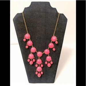 Charming Charlie Pink Bubble Statement Necklace